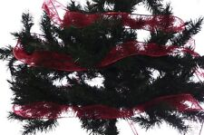 """Christmas Red Glitter Ribbon Holiday Tree Decoration Garland 2.5"""" 100 ft New"""