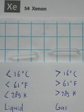 Liquid Xenon in quartz ampoule 26 x 4 mm - Amazing Element 54 sample