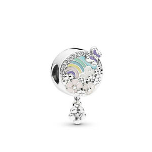 Silver Lucky Tree Cz Charm Beads Pendant Fit Sterling Bracelet Necklaces Chain