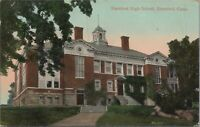 Postcard Stamford High School Stamford CT