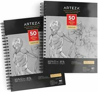 "ARTEZA Gray Toned Sketchbook, 9"" x 12"", 50 Sheets, Pack of 2"