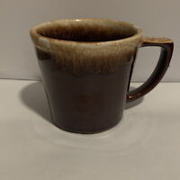 1 Vintage McCoy Pottery Brown Drip Glaze Coffee Mug Cup D Handle USA