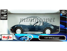 MAISTO 31202 1970 CHEVY CORVETTE COUPE 1/24 DIECAST MODEL CAR BLUE