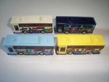 City Buses Coaches Model Cars Set 2 1:160 N - Kinder Surprise Plastic Miniatures