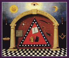 Antique Masonic Emblematic Chart Print Art Poster Ring large Freemasons Mason
