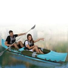 2 Man Person Inflatable Canoe Kayak Dinghy Boat With Double Paddle & Wet Bag