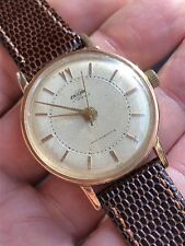 1950s Vintage Enicar Mens Watch Gold Plated Case Great Dial 34,5mm