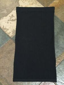 0220 Victoria's Secret Black Medium Nylon Lycra Strapless Shaper Dress/Slip B