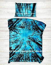Indian Turquoise Dark Forest Tapestry Bed Sheet Coverlet Throw Bedspread Hippie