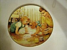 1991 The Danbury Mint Porcelain Plate-Friendly Inspection By Kathy Lawrence