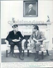 1969 President Richard Nixon With Raymond Gallagher of South Dakota Press Photo