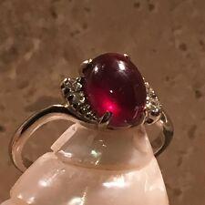 Mystic 2ct COLOR CHANGE GARNET Diamond RING 14kt White Gold Sz 7 Vintage