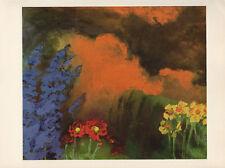 "1959 Vintage EMIL NOLDE ""FLOWERS and CLOUDS"" GORGEOUS COLOR Offset Lithograph"