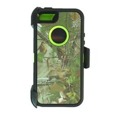 For iPhone 5,5s,SE Defender Case cover w/clip fit otterbox & Screen Green Tree