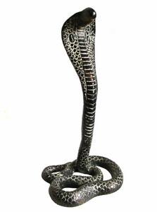 Wunderschöne KOBRA SCHLANGE aus Messing snake H=27 cm Reptil cobra Natter Viper