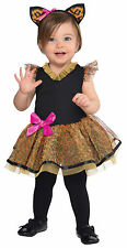 Amscan Baby Cutie Cat Costume 12-24 Months Toddler Fancy Dress Leopard Print