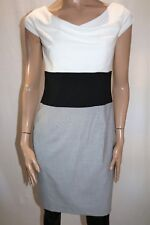 TARGET Brand White Black Grey Drape Neck Sheath Dress Size 10 BNWT #SH120