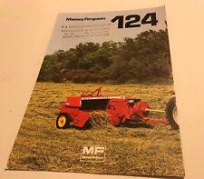 MASSEY FERGUSON MF 124 Baler Original 1977 Vintage Sales Brochure