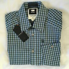 G-Star Raw S Mens RCT BTD Western SS Shirt BNWT Loden British Check xs Jeans