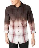 INC Men's Shirt Red Size XL Button Down Ombre Dual-Pocket Longsleeve $49 #102