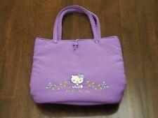 VTG- SANRIO Hello Kitty Lavender Crepe Fabric EVENING BAG w/Embroidery, PREOWN