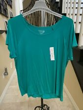 New listing womens clothing XXL Time & Tru top, New, teal C2