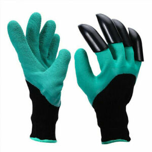 Garden Digging Gloves With ABS Claws For Digging Planting Gardening Raking