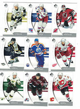 2005-06 SP Authentic 90 card set Gretzky Kariya Brodeur Jagr Lemieux Sakic +MORE