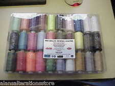 VERY HANDY 30 ASSORTED ALANSEW  SEWING MACHINE THREADS