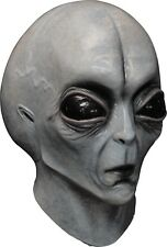 Halloween Costume UFO AREA 51 OUTER SPACE ALIEN Latex Deluxe Mask Haunted House