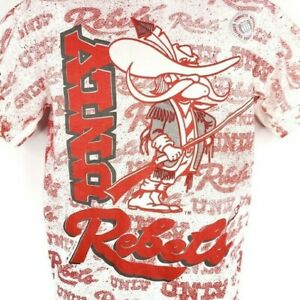 UNLV Rebels T Shirt Vintage 90s All Over Print NCAA College Size Large DEADSTOCK