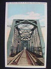 Sacramento California Northern Electric Railroad Bridge WB Postcard 1915-30