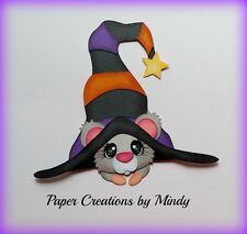 Craftecafe Mindy Halloween Mouse premade paper piecing scrapbook Die Cut