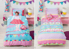 TABITHA TIGHTROPE Single Bed Reversible Girls Quilt Cover - Cubby House Kids