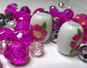Flower Beads Jewelry Making Iowa State Wild Rose Flower Beads 40 pcs