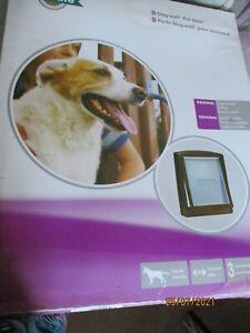 New Med to large size Door Dog flap door Pet safe in black