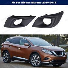 1Pair Fog Light Cover Bezels Trims For Nissan Murano 2015-2018