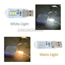 3 LED USB SMD Touch Switch Night Card Lamp Camping Reading Light