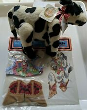 """MUFFY VANDERBEAR PATTIE THE COW DOWN ON THE FARM 9"""" & square dancing outfit"""