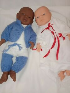 "The 'Doll Factory Europe' Twin Boy Girl Baby Dolls African American Boy 16"""