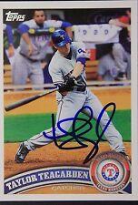 Texas Rangers Taylor Teagarden Signed 2011 Topps Autograph Card #371 TOUGH 106