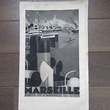 AFFICHETTE PUBLICITÉ ANCIENNE 1930 COMPAGNIE MARITIME P.L.M. MARSEILLE AFRIQUE