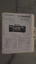 Fisher ph-w705 service manual original repair book stereo boombox radio tape