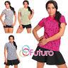 Womens Polo Shirt Hearts Print Collared Top Short Sleeve T-Shirt Size 8-12 2470