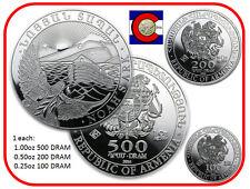 2014 Armenia Noah's Ark 3 Silver Coin Set --  1/4, 1/2, & 1 oz Armenian Coins