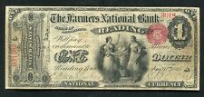 1865 $1 THE FARMERS NATIONAL BANK OF READING, PA NATIONAL CURRENCY CH. #696 VF