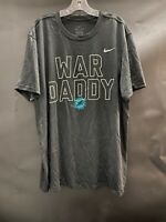 "MIAMI DOLPHINS TEAM ISSUED ""WAR DADDY""  DRI-FIT BLACK SHORT SLEEVE SHIRT XXL"