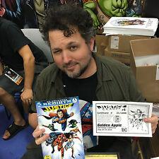 Justice League 1 DC Rebirth Signed Darick Robertson Golden Apple SDCC 2016 COA