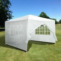 10'x10' Party Tent Outdoor Heavy Duty Gazeboe Wedding Canopyn W/4 Side Walls