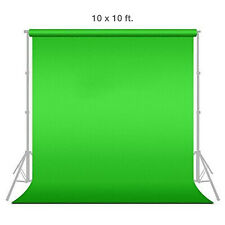 [1x] 10' x 10' Chromakey Green Screen Muslin Background Backdrop for Photography